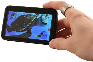 4-tums multimediaspelare med bredbild