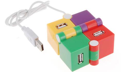 Färgglad USB-hubb
