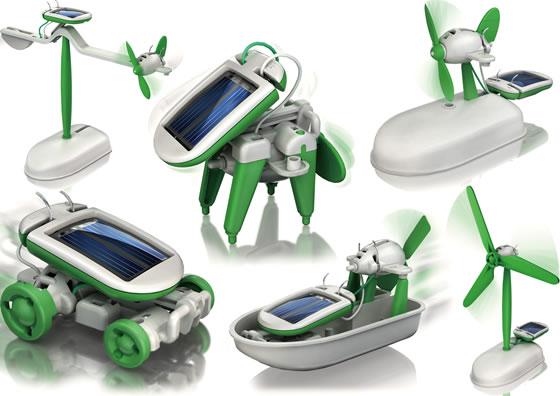 Solcelldrivna robotar