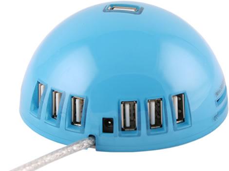 Bullig USB-hub med kortläsare