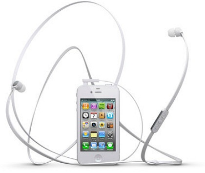 Hörlurarna a-JAYS Four för iPhone i vitt