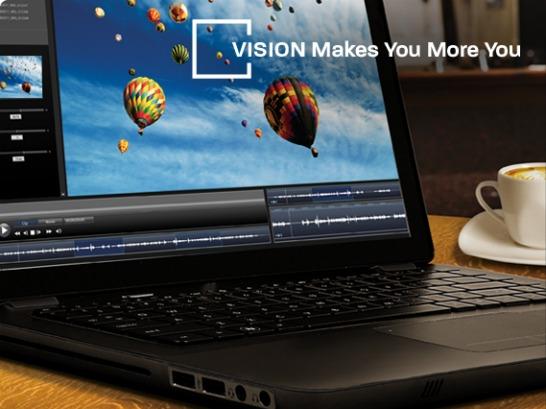 Bärbar dator med AMD Vision