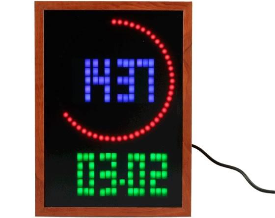 Animerad LED-klocka