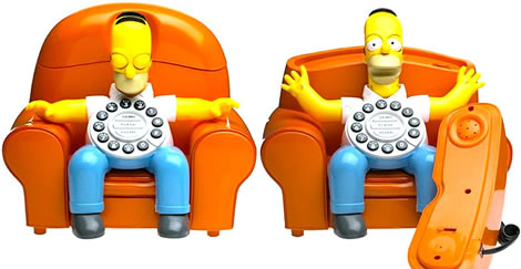 Homer Simpson som telefon
