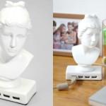 Keramikstaty av Afrodite som USB-hubb