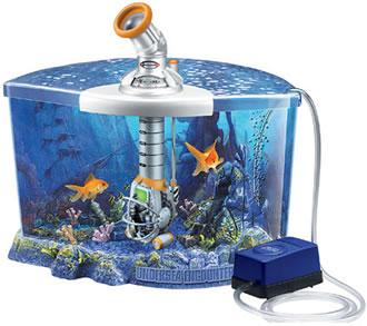 Akvarium för dyksimulering