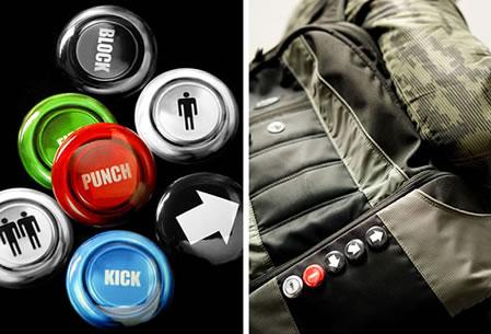 Knappar av knappar från arkadspel
