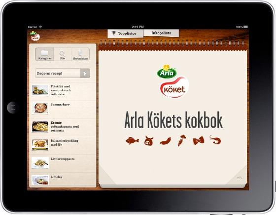 Arla Köket för iPad