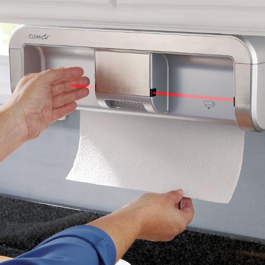 Automatisk hållare för hushållspapper