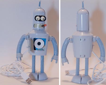 Bender från Futurama som webbkamera