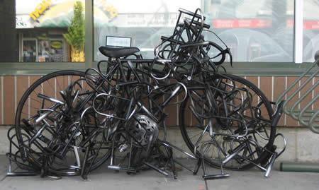 Låst cykel