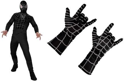En svart Spindelmannendräkt