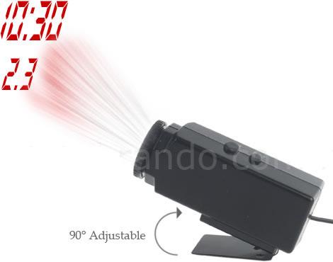Projektorklocka för bilen