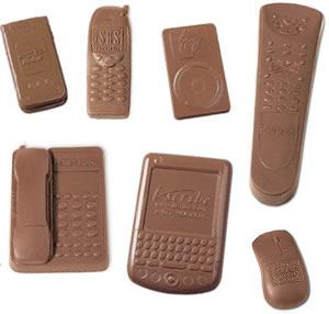 Prylar av choklad