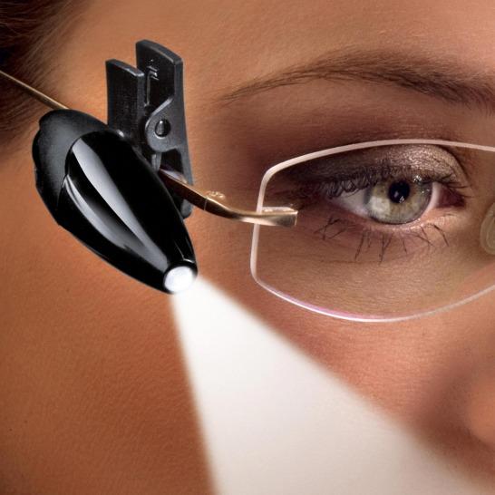 Läslampa för glasögon