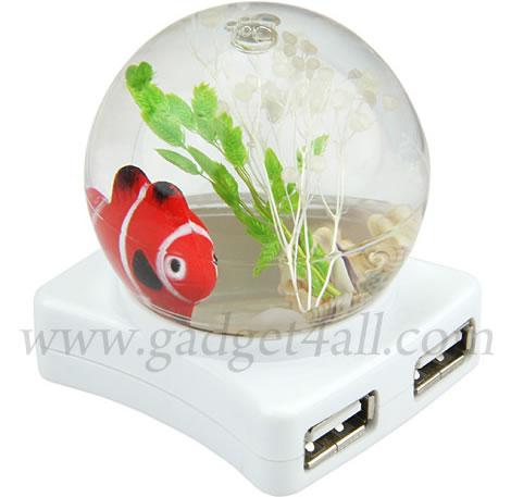 Guldfiskskål med USB-hub