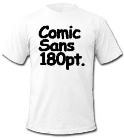 Comic Sans 180 pt