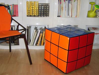 Rubiks kub som sittmöbel