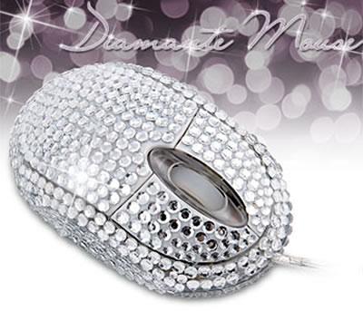 Mus med fejkade diamanter
