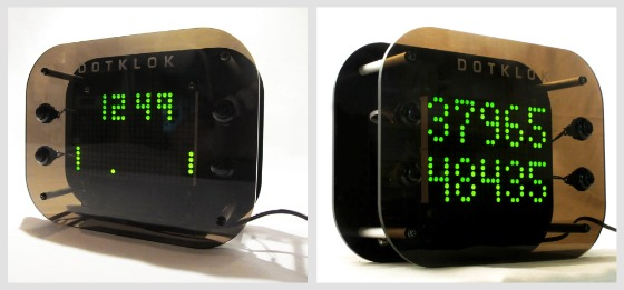 Dotklok - digital klocka