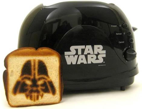 Brödrost bränner Darth Vader på mackan
