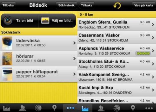 Eniro iPhone-applikation