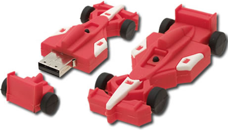 USB-minne i form av F1-bil