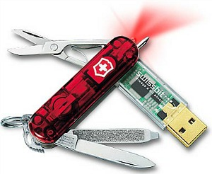Schweizisk armékniv med USB-minne
