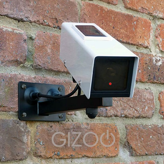 Fejkad solljusdriven övervakningskamera