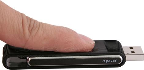Skydda USB-minnet med fingeravtryck