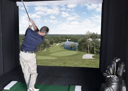 Interaktiv golfsimulator