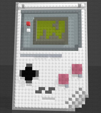 Gameboy Lego-mosaik