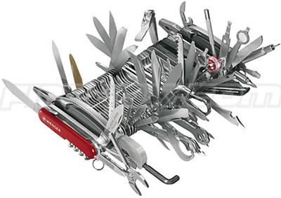 Enorm schweizisk armékniv