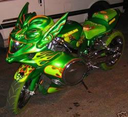 Green Goblin Suzuki GSX-R