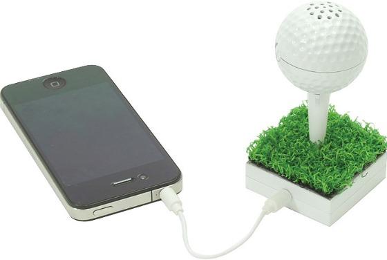 Golfboll som högtalare