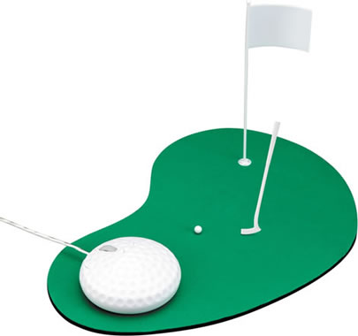 Mus för golfare