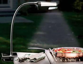 Sladdlös LED-lampa för grillen