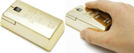 Guldtacka som mus