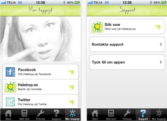 Halebop iPhone-app