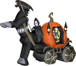 Lieman med häst och vagn