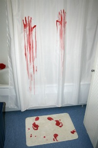 Badrumsmatta och duschdraperi