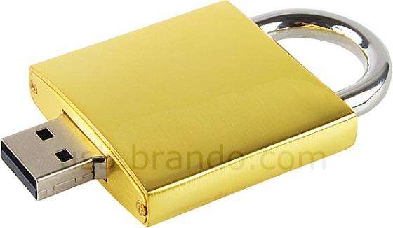 Hänglås som USB-minne