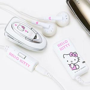 Hello Kitty som trådlösa hörlurar