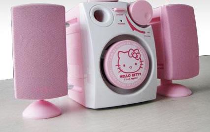 Hello Kitty-mobil med högtalare