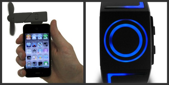 iPhone-fläkt och Tron-klocka