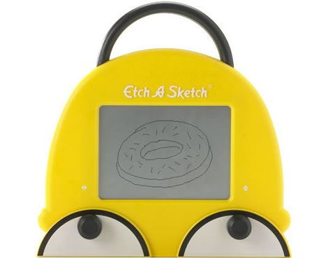Homer Simpson som Etch A Sketch