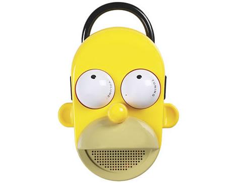 Homer Simpson som talande badrumsradio
