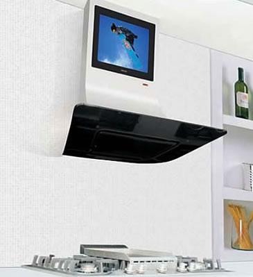 Spiskåpa med inbyggd LCD-TV