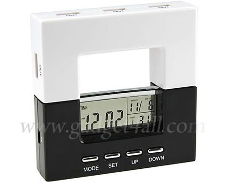 USB-hubb med klocka, kalender och termometer