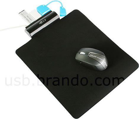 Musmatta med inbyggd USB-hubb